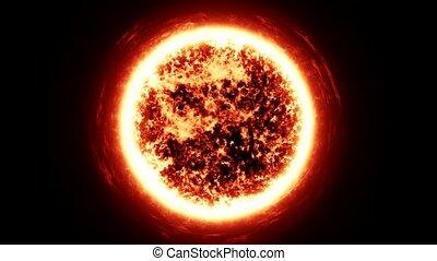 soleil, espace, zoom