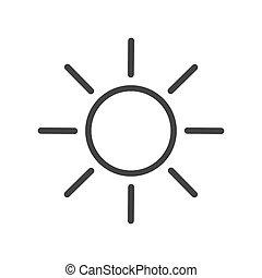 soleil, forme, icône