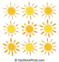 soleil, icônes