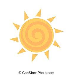 soleil, jaune, icône