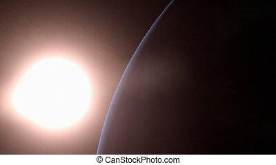 soleil, la terre