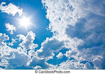soleil, nuages, contre