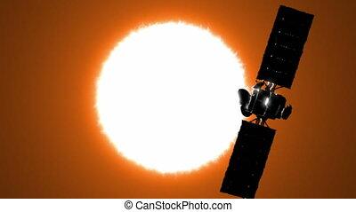 soleil orbitant, satellite