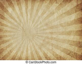 soleil, papier, rayons, parchemin