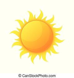 soleil, planète, isolé, chaleur, chaleur, étoile
