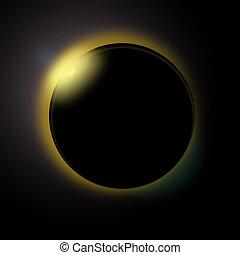 soleil, réaliste, éclipse solaire