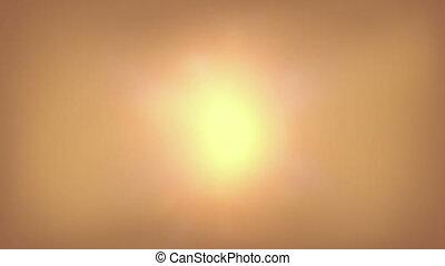 soleil, shimmering, au-dessus, ardent, désert