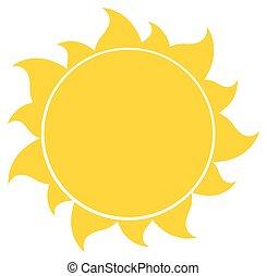 soleil, silhouette, jaune