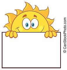 soleil, sur, vide, planche, signe