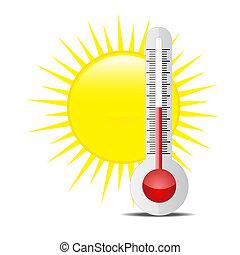 soleil, thermomètre