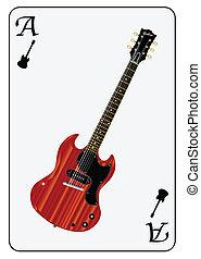 solide, guitare jouer, carte