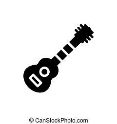 solide, icône, guitare, vecteur