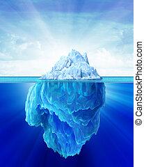 solitaire, iceberg, sea.