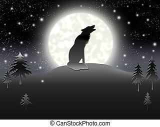 solitaire, loup