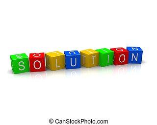 solution, cubes