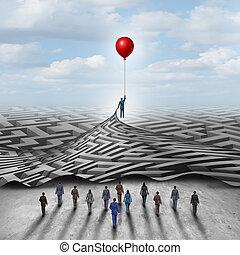solution, employé, direction