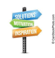 solution, signe, motivation, inspiration