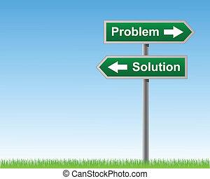 solutions., problèmes, panneaux signalisations