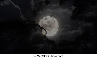 sombre, éclipse, lune