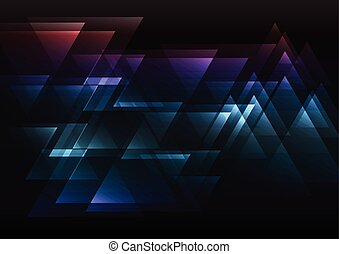 sombre, arc-en-ciel, résumé, triangle