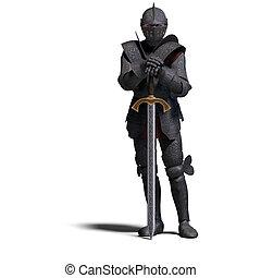 sombre, chevalier