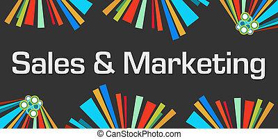 sombre, commercialisation, éléments, ventes, coloré