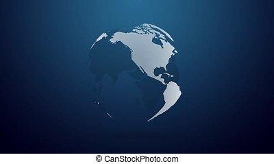 sombre, concept, résumé, terre planète, globe