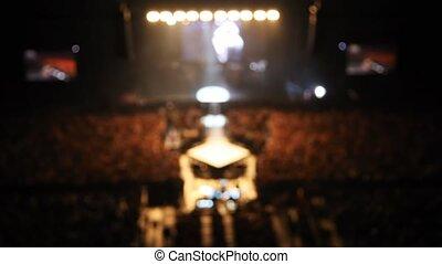 sombre, concert, panorama, performance, pendant, salle