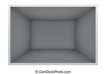 sombre, exemple, salle vide
