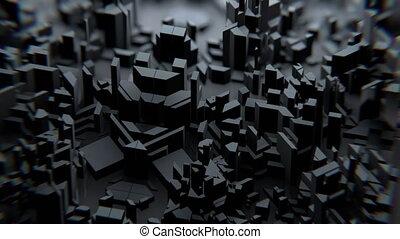 sombre, géométrie, vj