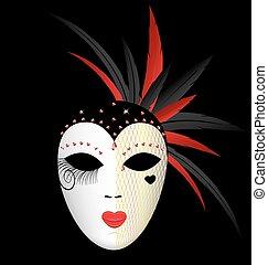sombre, masque, carnaval