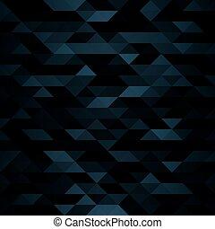 sombre, mosaïque, triangulaire, fond