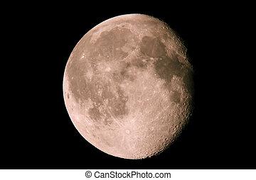 sombre, phase, ciel, 15.08.11, lune