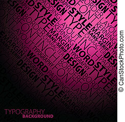 sombre, résumé, typographie, fond