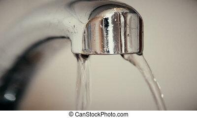 sombrer, vieux, eau chute, gouttes, robinet