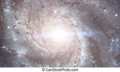 sommet, appareil photo, rotation, galaxie, espace