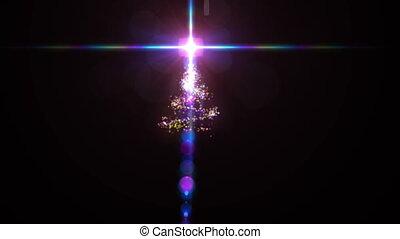 sommet arbre, étoile, noël
