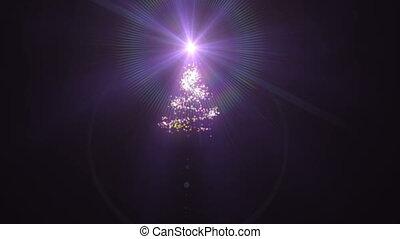 sommet, arbre noël, étoile