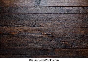 sommet bois, rustique, fond, table, vue