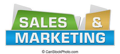 sommet, carrés, coloré, ventes, commercialisation