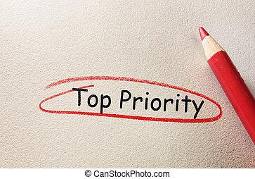 sommet, cercle, priorité