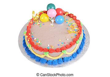 sommet gâteau, anniversaire, vue, chocolat