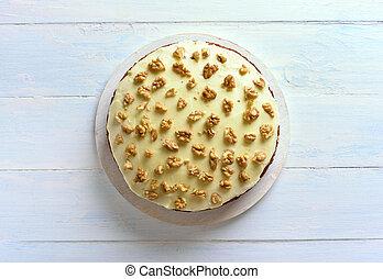sommet, gâteau carotte, vue