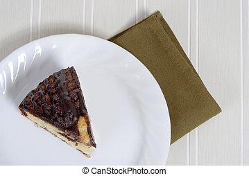 sommet gâteau, vue, café, chocolat
