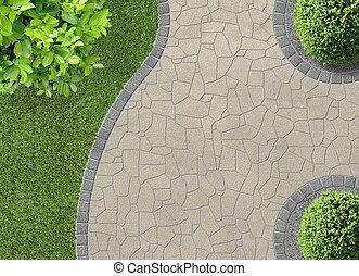 sommet, gardendetail, vue