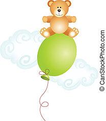 sommet, teddy, balloon, ours, séance