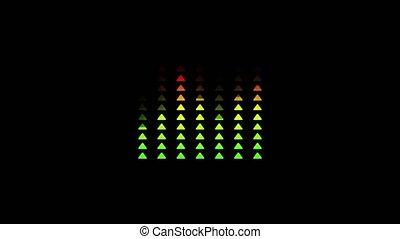 son, audio, rouges, graphique, animation, barre, triangle, noir, compensateur, fond, changer, vert, forme, couleur, vague