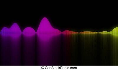 son, coloré, fond, concepts, audio, waves.