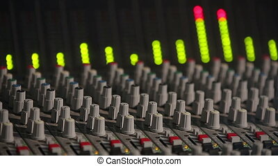son, compensateur, équipement, contrôleur, studio, professionnel
