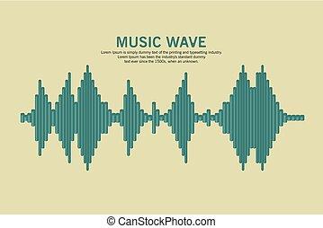 son, vecteur, waveform.
